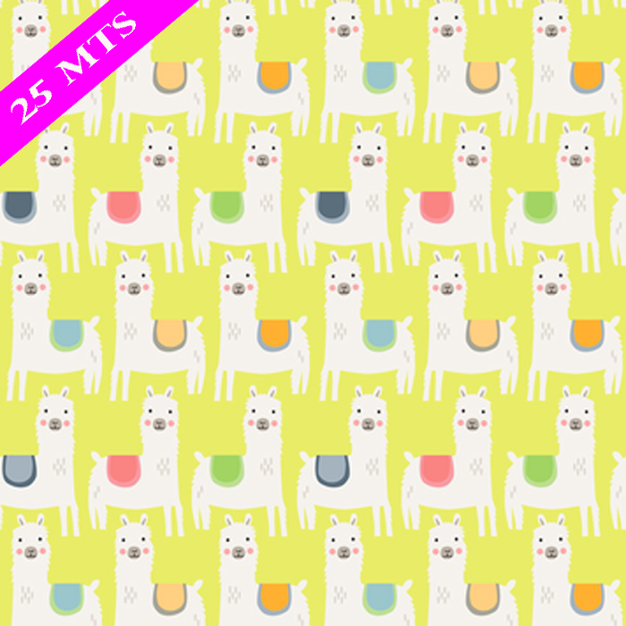 LITTLE LLAMAS WRAP 30 IN X 25 MTS