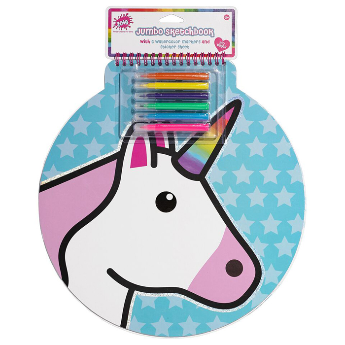 UNICORN JUMBO SKETCH BOOK 4 PZ