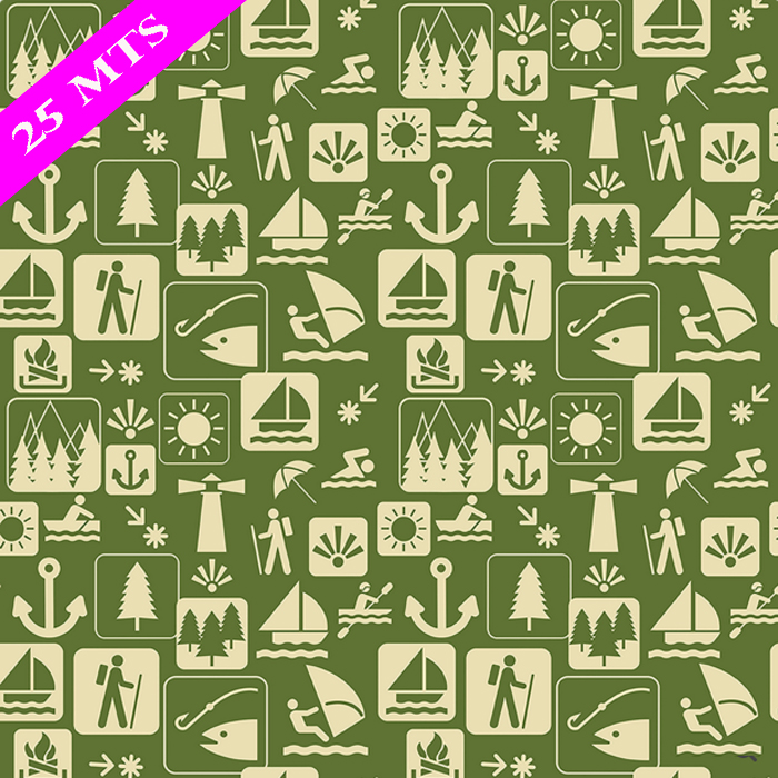 PAPEL DE REGALO GREAT OUTDOORS 76 CMS X 25 MTS