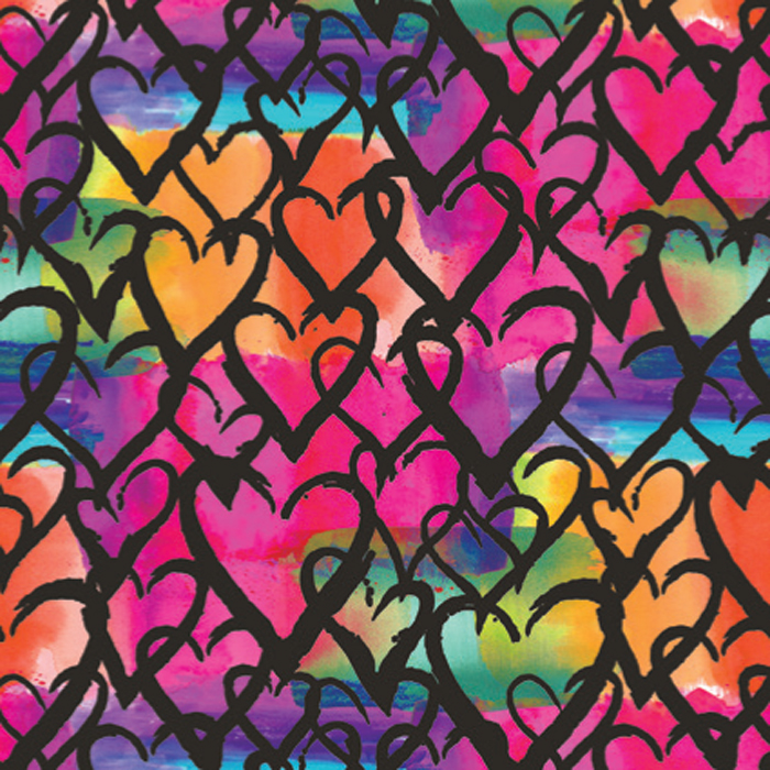 PAPEL DE REGALO GRAFFITI LOVE 76 CMS X 25 MTS