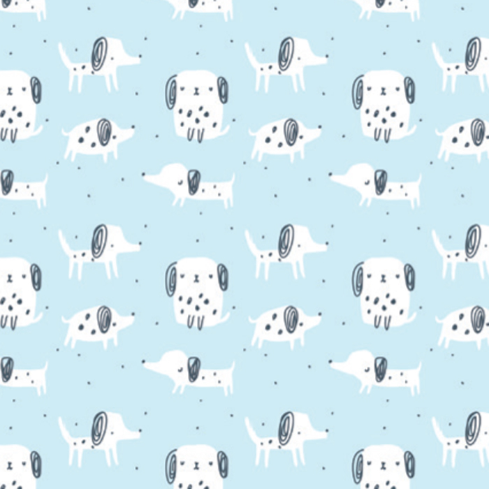 PUPPY DOTS WRAP 30 IN X 25 MTS
