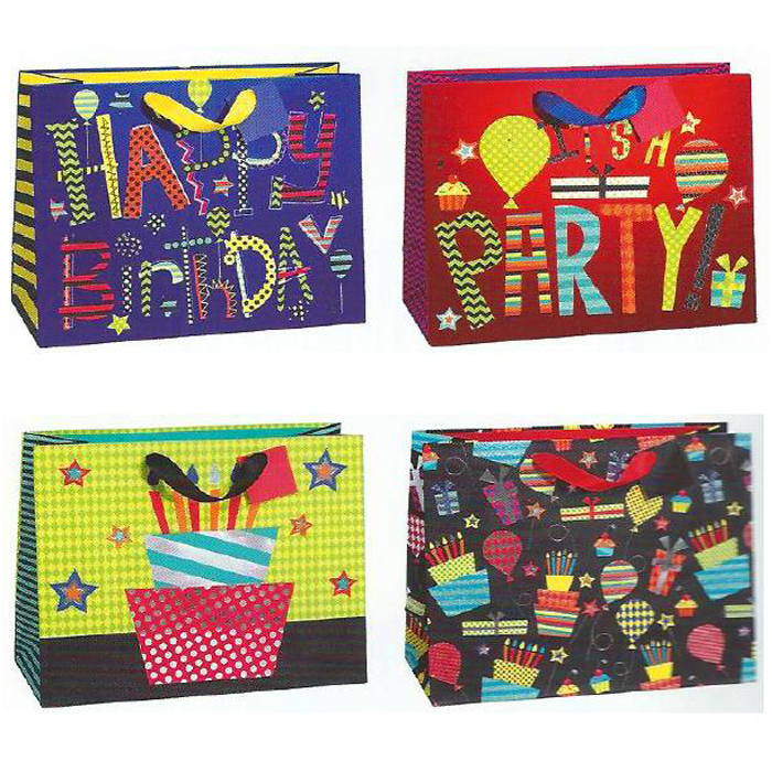 BOLSA DE REGALO BIRTHDAY ITS PARTY MEDIANA HZ 12 PZ