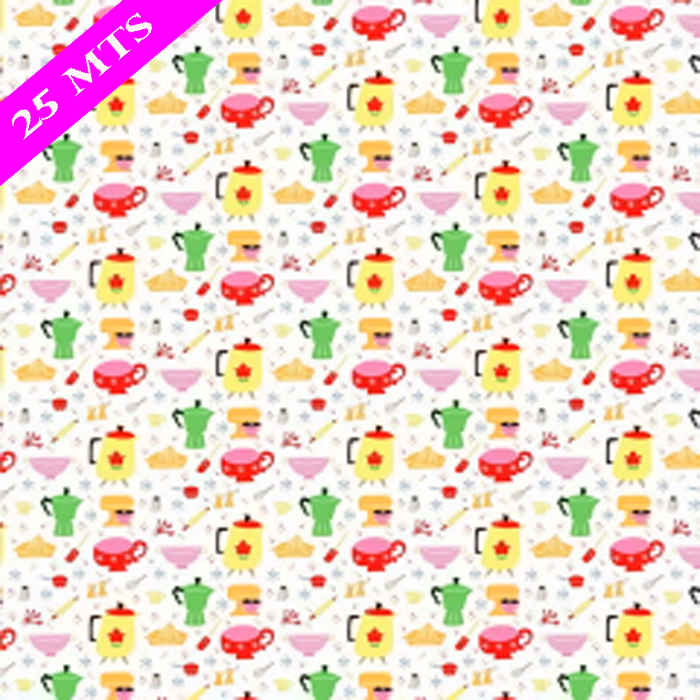 PAPEL DE REGALO KITSCHY KITCH  76 CMS X 25 MTS