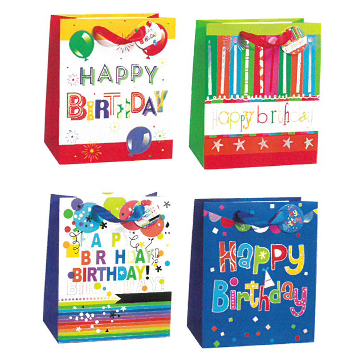 LARGE BAG BRIGHT BIRTHDAY 12 PZ