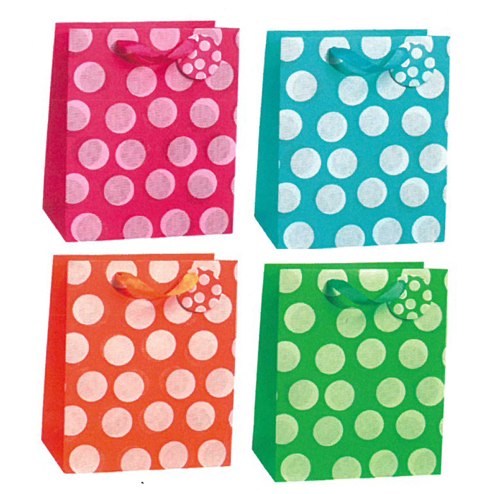 BOLSA DE REGALO BIG DOTS GRANDE 12 PZ