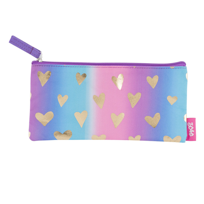 PENCIL BAG GOLDEN HEARTS 4 PZ