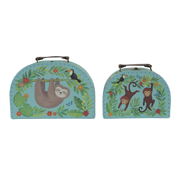 SET DE 2 CAJAS JUNGLE FRIENDS 2 PK (4PZ)