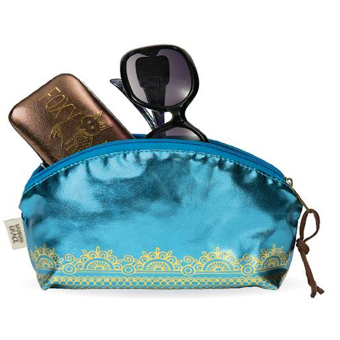 COSMETIQUERA PURSE POUCH TAJ TEAL 2 PZ