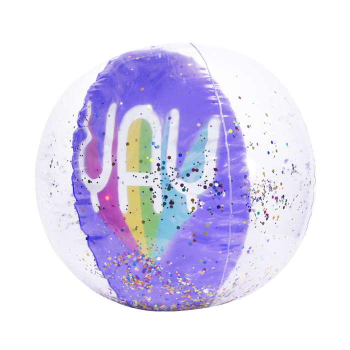 YAY CONFETTI BEACH BALL 4PZ