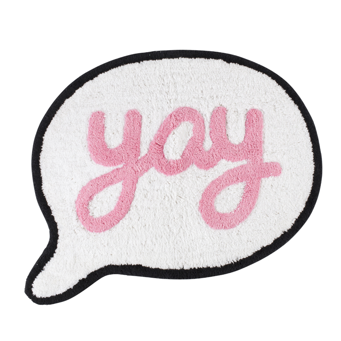 SAY YAY SPEECH BUBBLE RUG 1 PZ