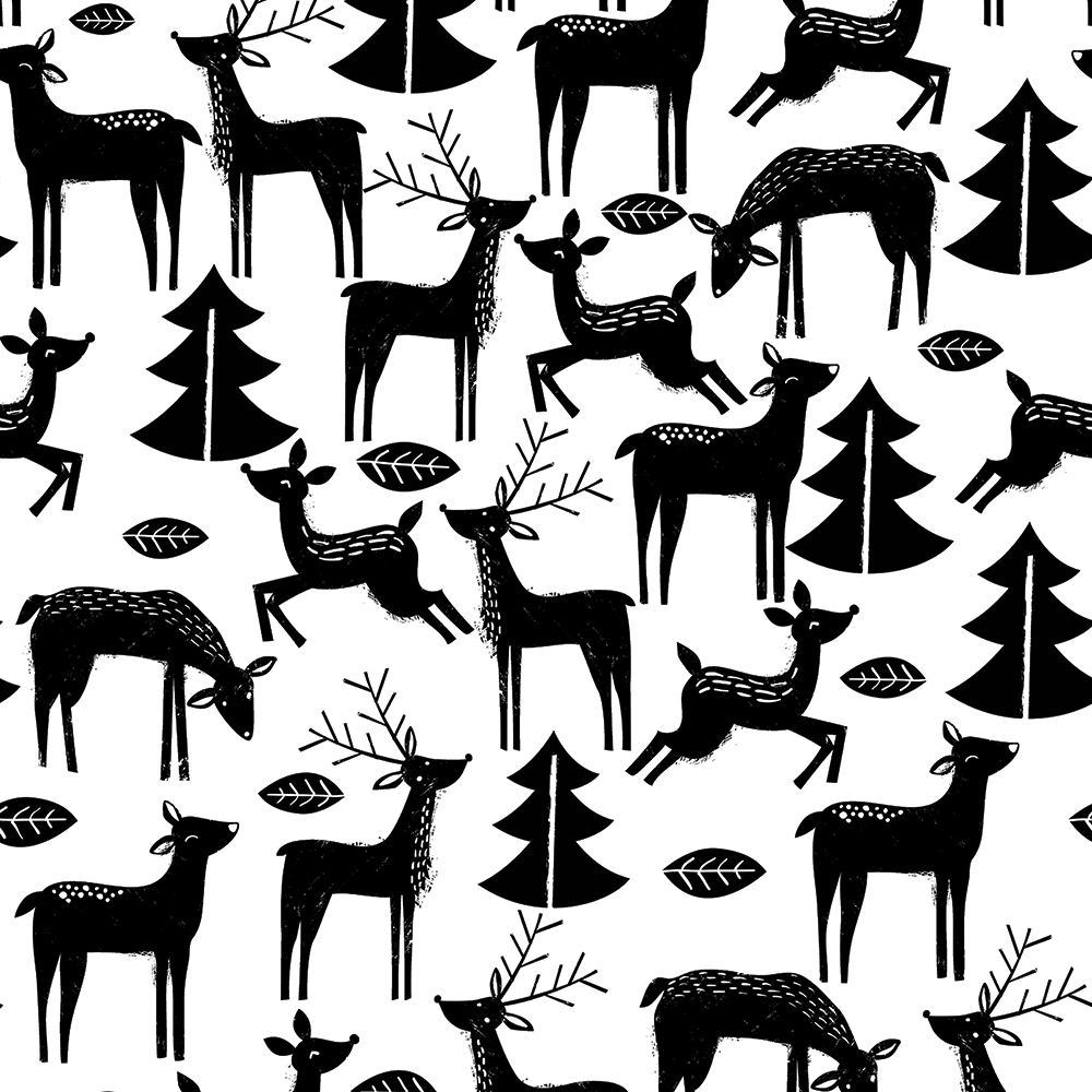 PAPEL DE REGALO REINDEER CARVING 76 CMS X 25 MTS